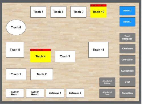 Kassensoftware, Kassensysteme, Raumplan, Tischplan