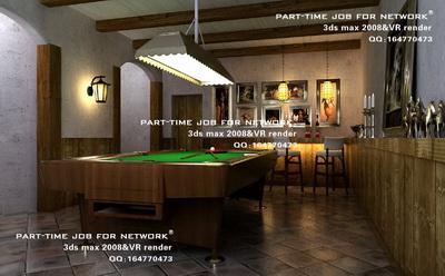Un pequeo bar mesa de billar 3D Model DownloadFree 3D