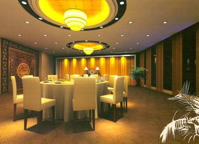 Separa las habitaciones en un restaurante chino 3D Model