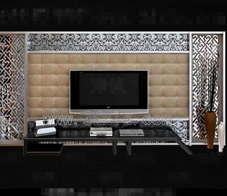 TV Antecedentes muro 3D Modelos Descarga gratuita 3D Model