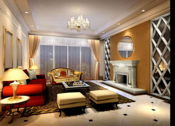 Moderna sala vida brillante y elegante 3D Model Download