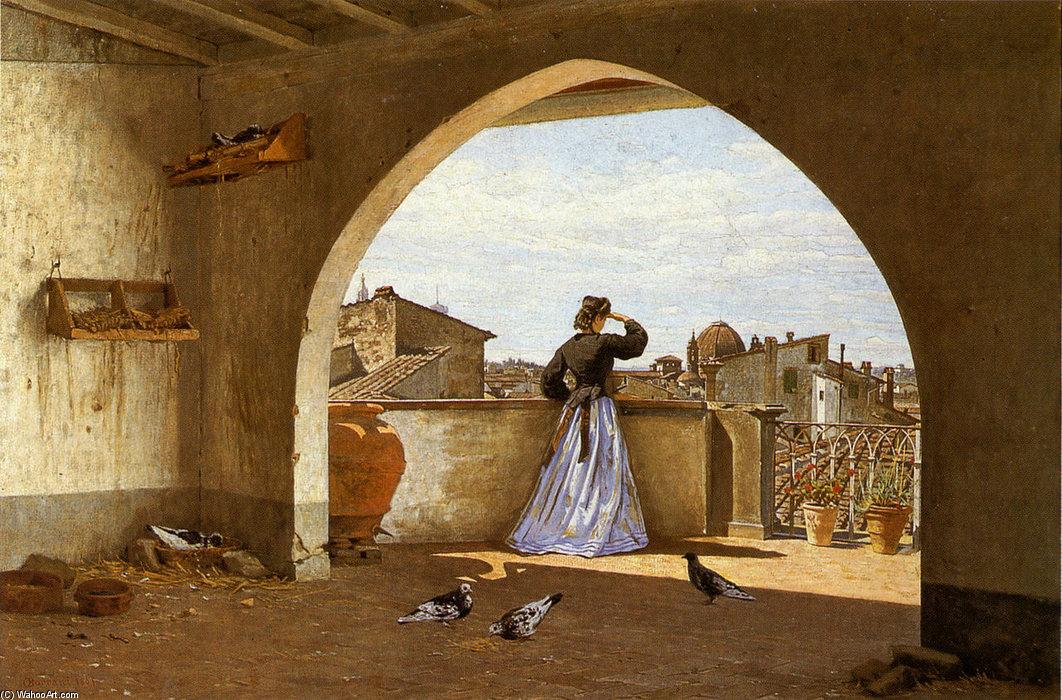 La mia terrazza  Firenze de Odoardo Borrani 18331905