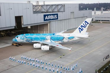 First-A380-ANA-rolls-out-of-paintshop-9