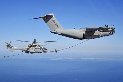 Airbus A400M helicopters air to air refuling