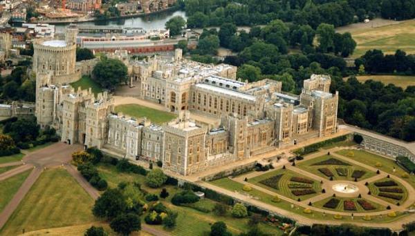 Castillos Medievales Castillo de Windsor, Inglaterra vista panorámica