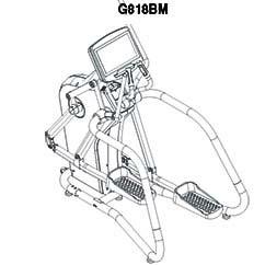 LK8180 elíptica profesional
