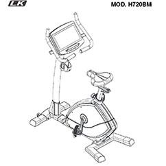 LK7200 Bicicleta vertical profesional