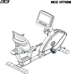 LK7750 Bicicleta reclinada profesional
