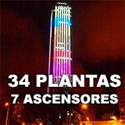 34 Plantas y 7 Ascensores