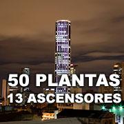 50 Plantas y 13 Ascensores