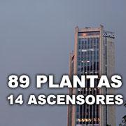 89 Plantas y 14 Ascensores