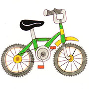 En bicicleta