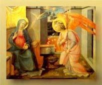 La Anunciación del Ángel a la Virgen María