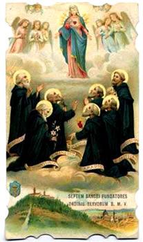 Fundadores de la Orden de los Servitas, Santos
