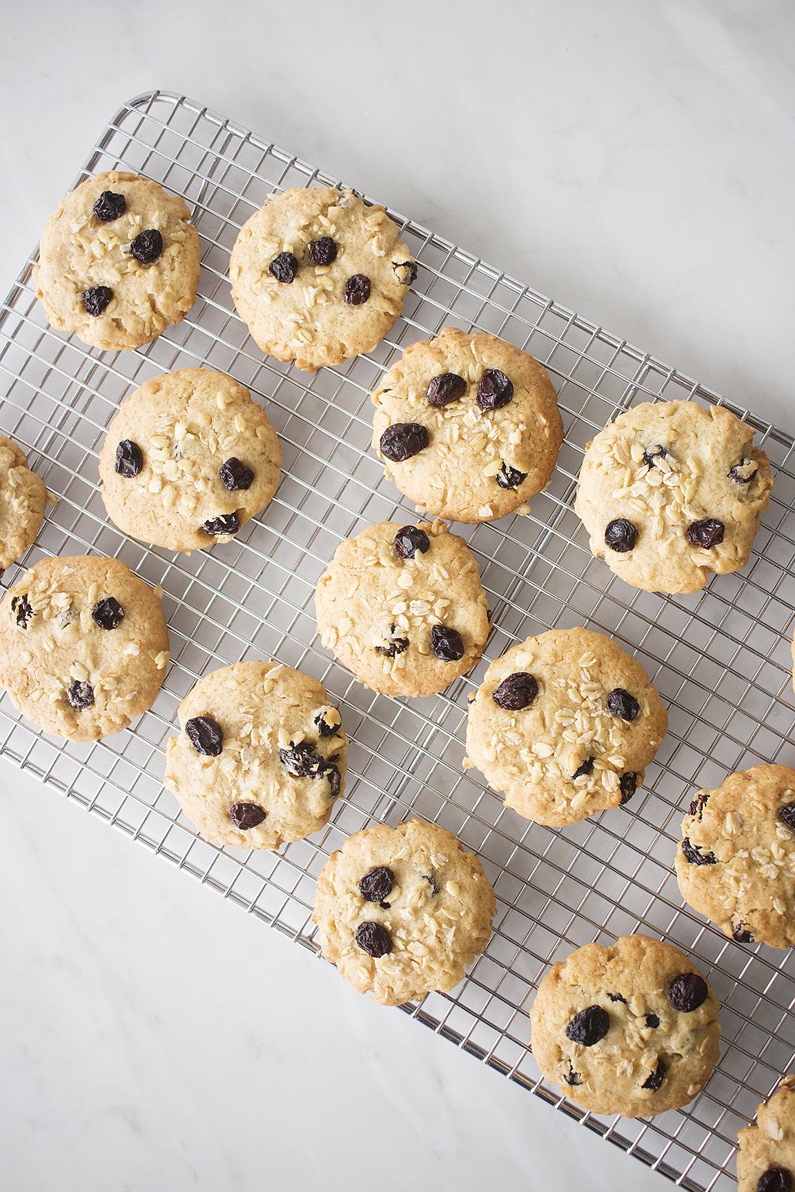 Perfectas galletas de avena y pasas