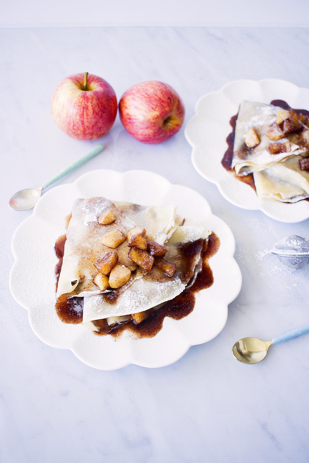 Crêpes con Manzanas y Canela