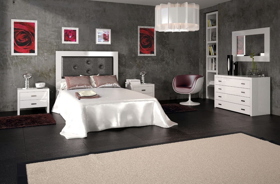 Foto Dormitorio Marsella con Cabecero de Cam de Madera y