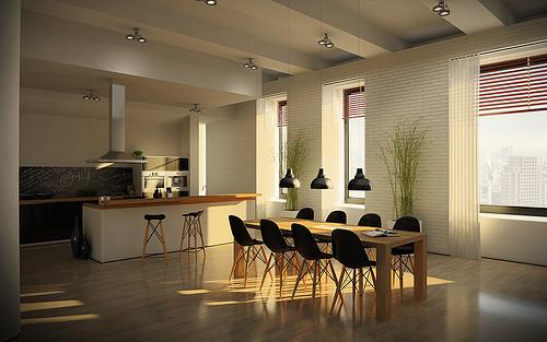 Foto Lo Mas Moderno en Espacios Compartidos Cocina y