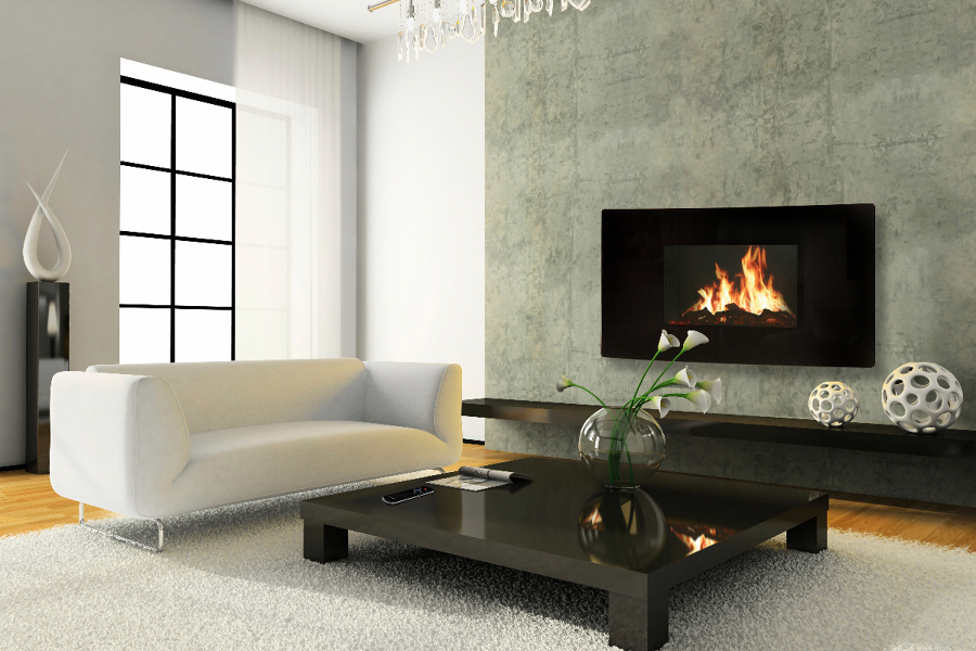 Foto Chimenea Elctrica Celsi Modelo Curvo de Fireside