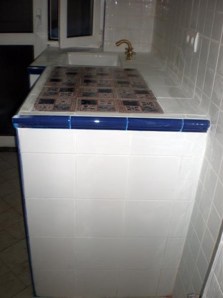 Foto Meseta de Cocina con Azulejos Rsticos de Corema
