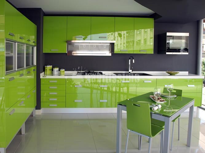 Muebles de Cocina Yelarsan Modelo Look Verde  Ideas Muebles