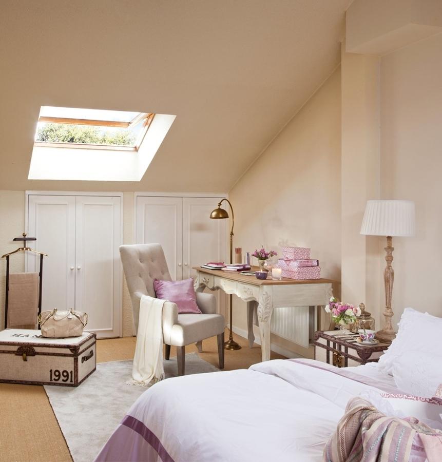 La Belleza de los Dormitorios Abuhardillados  Ideas