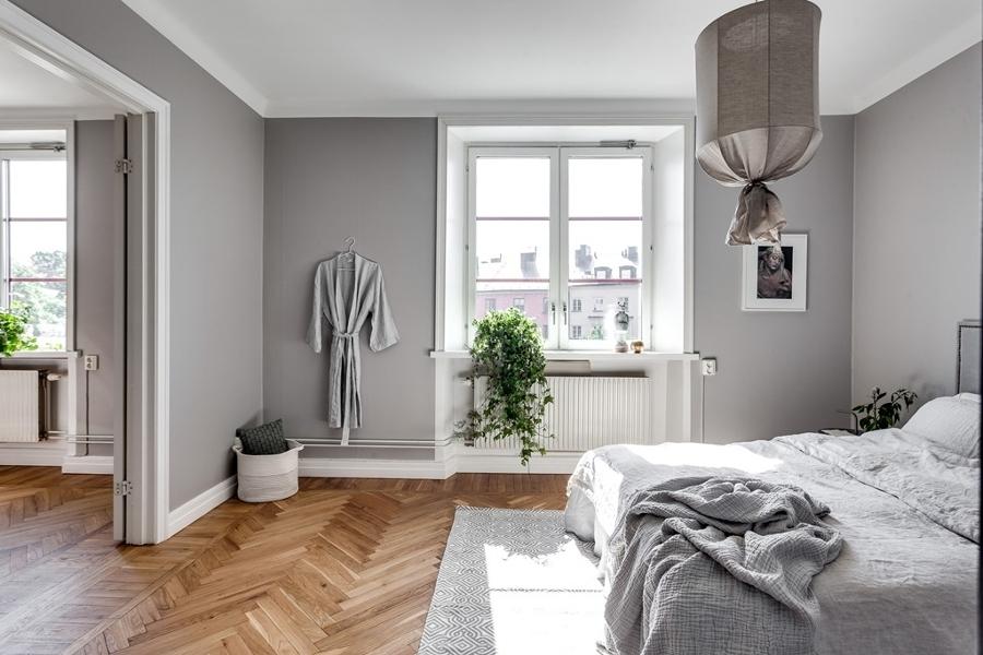 Foto Dormitorio con Paredes Grises de Miv Interiores
