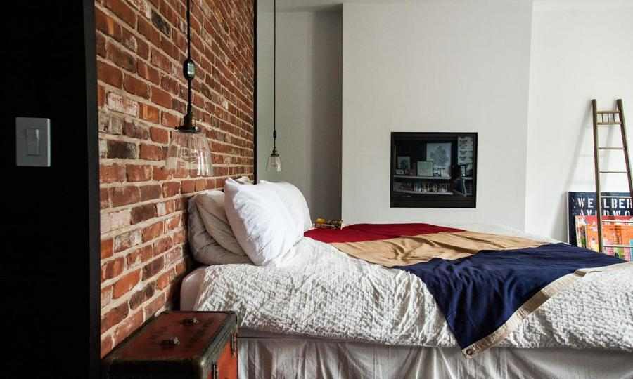 Foto Dormitorio Pared Ladrillo Visto Brooklying