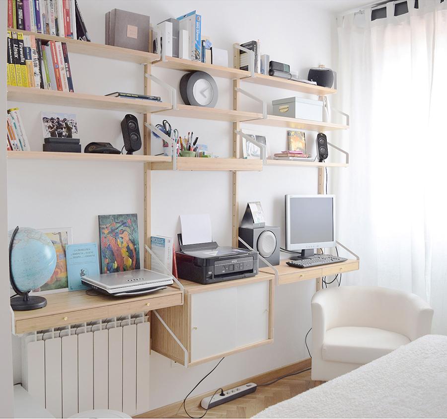 Foto Habitacin de Invitados con Zona de Trabajo de