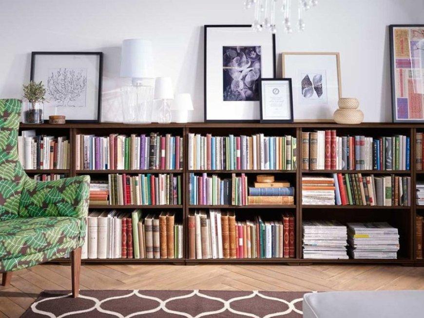 Librería a media altura
