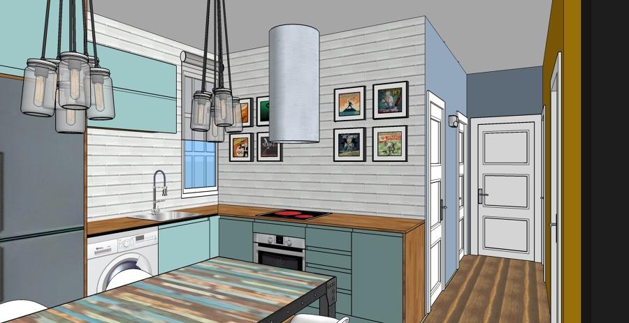 Foto Zona Cocina Americana de IndoorStudio 980426  Habitissimo