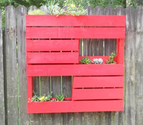 Jardinera palets roja  Handspire