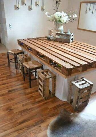 Mesa cocina grande palets  Handspire