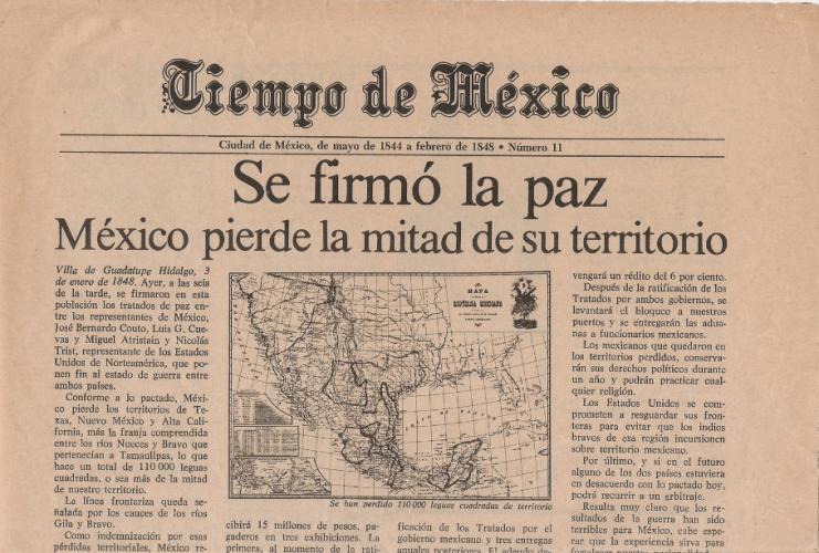 2 Febrero 1848 se firma el Tratado de Guadalupe Hidalgo