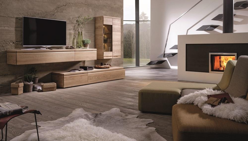 Mueble TV de diseo en nogal o en roble