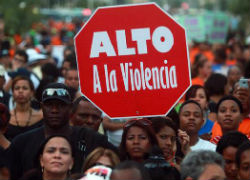Marcha contra la violencia en Latinoamérica