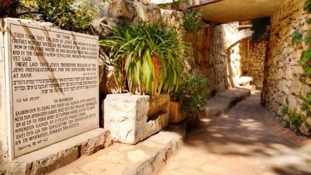La Tumba del Jardin. Foto de Noam Chen. Ministrio de Turismo de Israel.