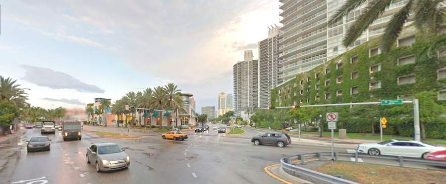 Calle 5th y Alton Road en Miami Beach, Florida