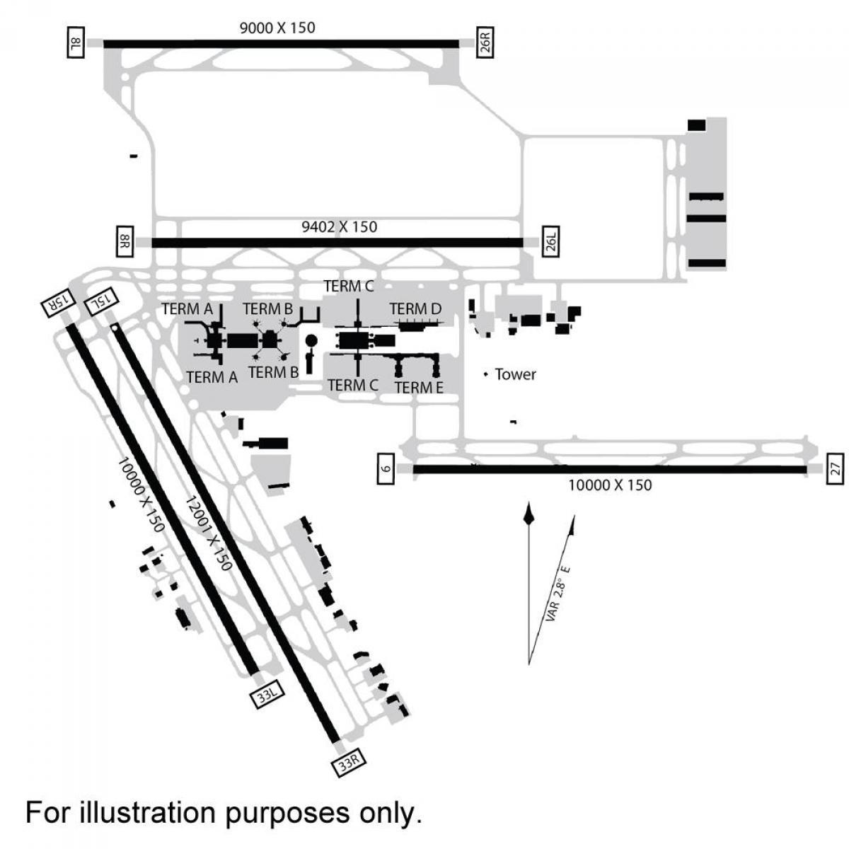 Houston Aeropuerto Internacional De Mapa