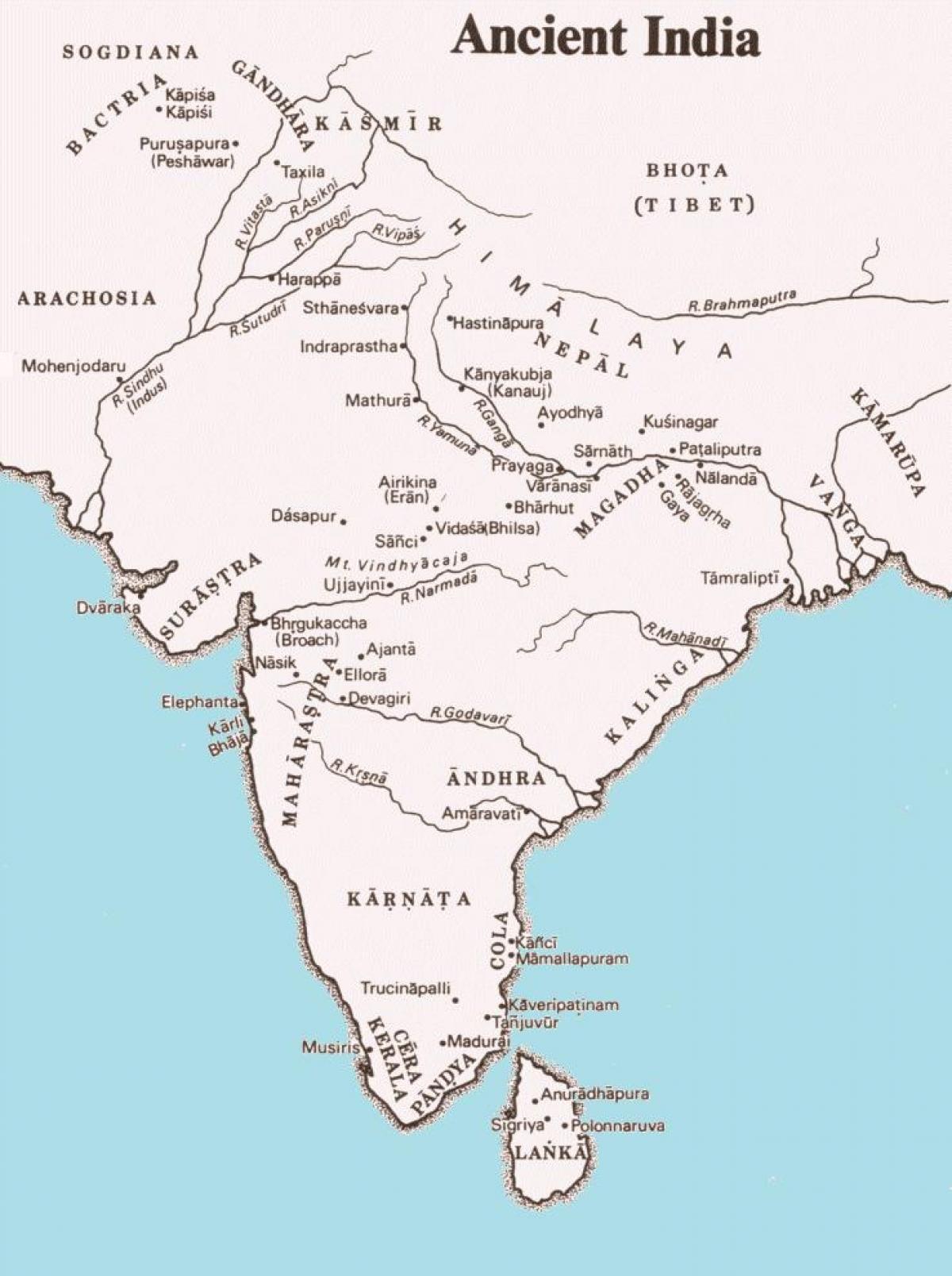 Mapa De La Antigua India