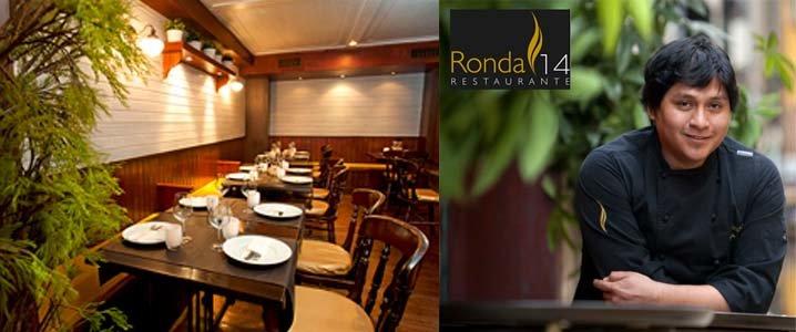 El chef Mario Céspedes en su restaurante de cocina peruana-asturiana Ronda 14