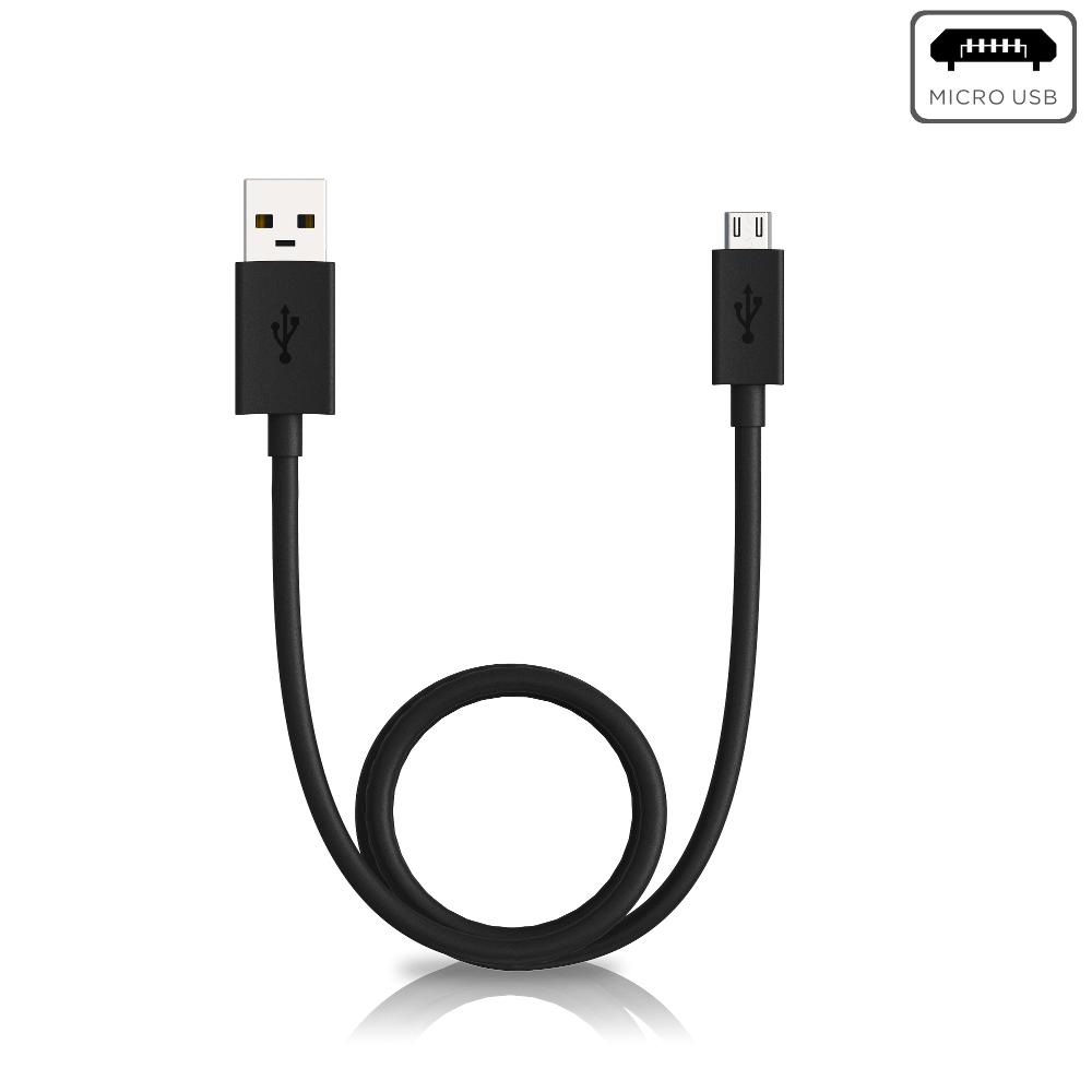 Motorola Data/Charging Cable USB-A to Micro-USB — Black