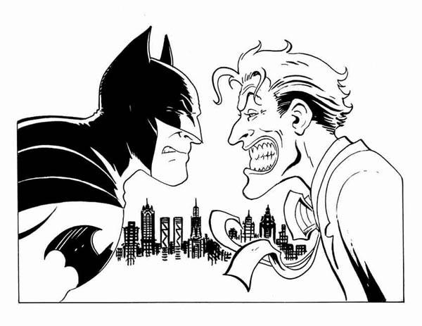 Coloriage Joker Et Batman