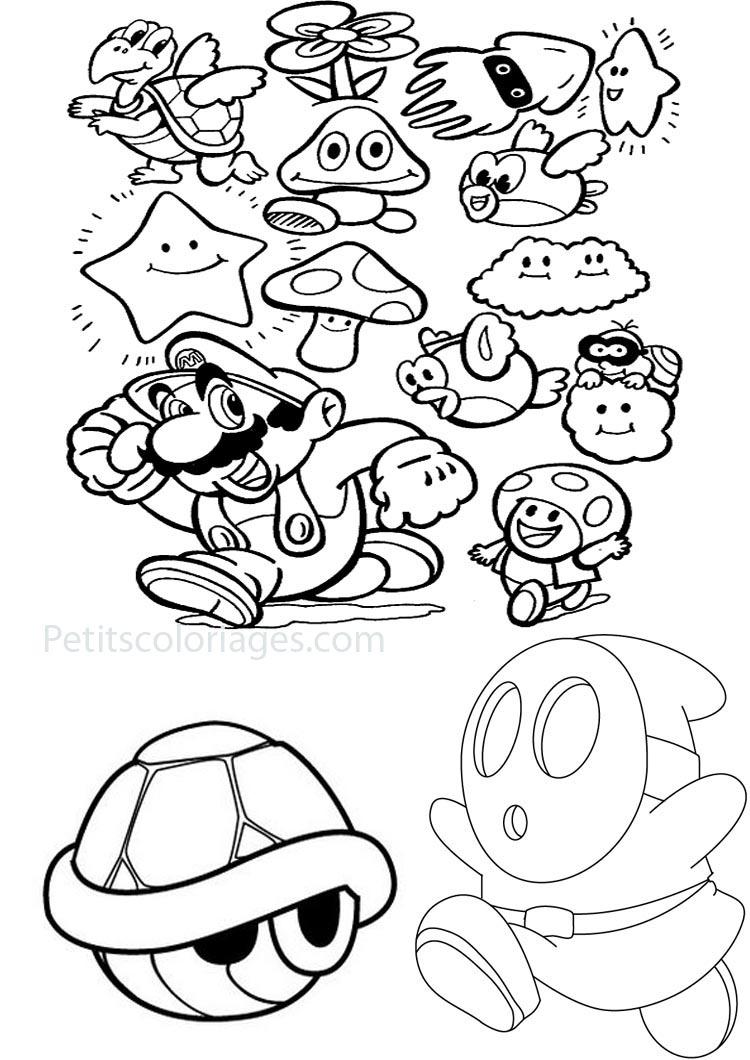 Kleurplaat Super Mario 3d Land Super Mario Bros