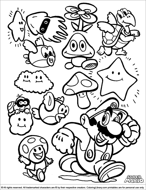 138 Dibujos De Mario Bros Para Colorear