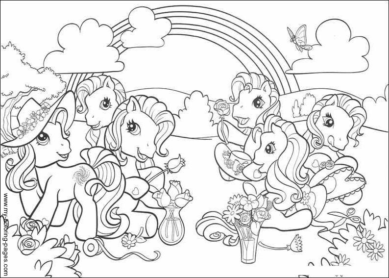 Dibujos Para Colorear Ponis Bebes My Little Pony Para Colorear
