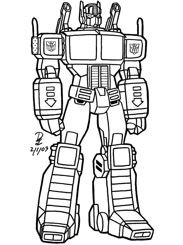 Transformers Para Colorear E Imprimir