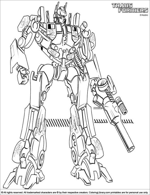 Kolorowanki Transformers