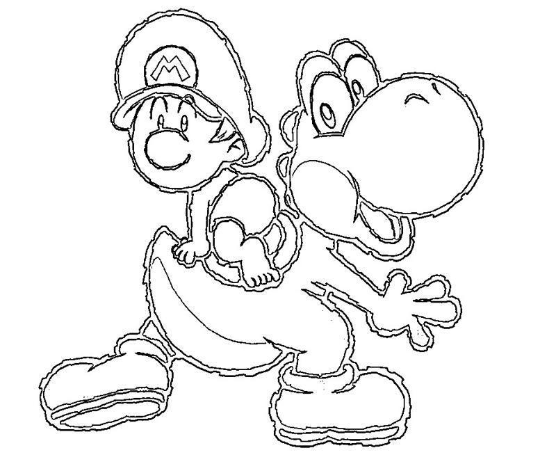 36 dibujos de Yoshi para colorear Oh Kids Page 4