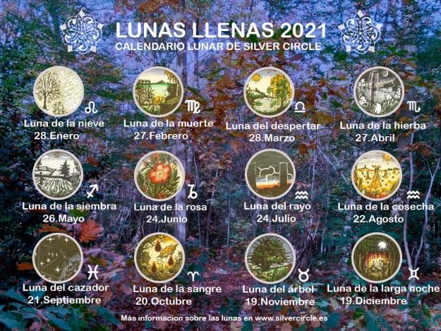 Calendario lunar de Silver Circle 2021